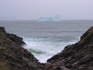 Iceberg and Fog Off Cape Spear