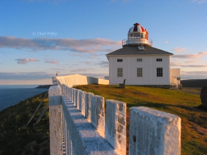 Cape Spear Lighthouse with Fence