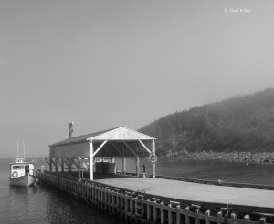 East Bauline Boathouse, B&W