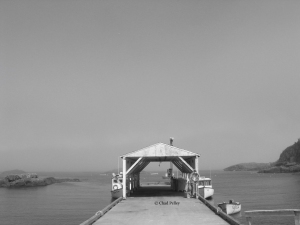 East Bauline Boathouse, Front, B&W