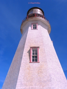 Point Riche Lighthouse, View Up